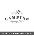 camping label vector image