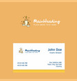 candles logo design with business card template vector image