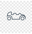car concept linear icon isolated on transparent vector image vector image