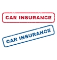 Car Insurance Rubber Stamps vector image vector image