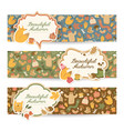 cartoon autumn horizontal banners vector image vector image