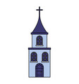 church cross building on white background vector image