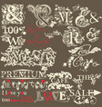 collection of antique hand drawn ands the premium vector image vector image