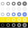 concentric circles rings in sequence abstract vector image vector image