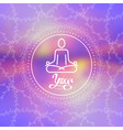 concept yoga human in lotus pose for logo vector image