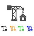 crane house building icon vector image