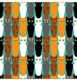 Cute cats colorful seamless pattern background vector image vector image