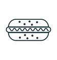 delicious food hotdog and gastronomy theme design vector image