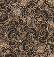 Doodled seamless pattern from flowers Endless vector image vector image