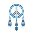 dreamcatcher in hippie style icon vector image vector image