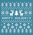 elegant scandinavian style happy holidays card vector image