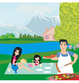 family picnic vector image vector image