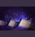 film strip abstract composition vector image vector image