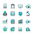 finance and bank icons vector image vector image