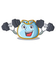 fitness character baby bib for feeding toddler vector image