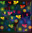 floral transparense abstract background image vector image vector image