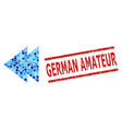 grunge german amateur stamp imitation and move vector image vector image