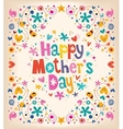 Happy Mothers Day 2 vector image vector image