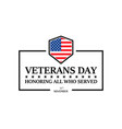happy veterans day on a white background vector image vector image