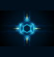 hexagonal futuristic sci fi pattern vector image vector image