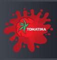 la tomatina logo icon tomato battle vector image vector image