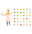 man cooking dishes chef hobleisure time vector image