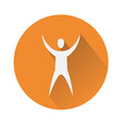 Man with hands in the air vector image vector image