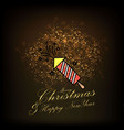 merry christmas and happy new year abstract vector image