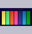 modern bright color gradients background set vector image vector image