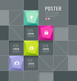 Modern posters squares template design vector image vector image