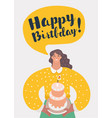 mom is celebrating first birthday of her baby vector image vector image