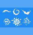 natural milk logo templates set organic dairy vector image