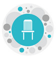 of interior symbol on chair vector image