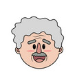 old man face with hairstyle vector image vector image