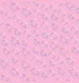 pink color heart seamless pattern vector image