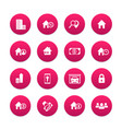 real estate icons set house sale apartments vector image vector image