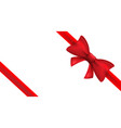 red ribbon with bow isolated bow vector image