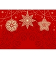 Retro Christmas background with white snowflakes vector image vector image