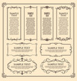 retro frames banners with vintage decor borders vector image