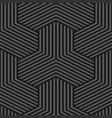 seamless weave geometric pattern - dark vector image