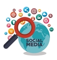 search social media isolated design vector image