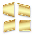 set gold sheets of paper vector image
