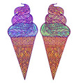 set of colored of ice cream vector image vector image