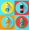 set of pictures plastic bottle of coca cola vector image vector image