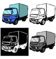 small truck vector image vector image