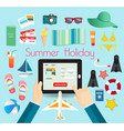 summer time vacation its holiday relax and vector image