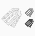 tags mesh 2d model and triangle mosaic icon vector image vector image