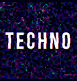 techno music sign vector image
