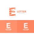 unique letter e logo design template vector image vector image