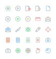 User Interface Colored Line Icons 12 vector image vector image